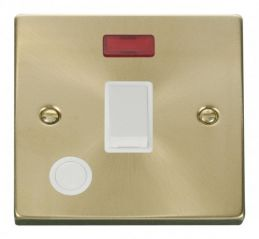 Scolmore Click Deco VPSB023WH 20A 1 Gang DP Switch With Flex Outlet And Neon - White