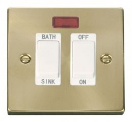 Scolmore Click Deco VPSB024WH 20A DP Sink/Bath Switch - White