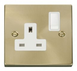 Scolmore Click Deco VPSB035WH 1 Gang 13A DP Switched Socket Outlet - White