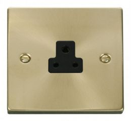 Scolmore Click Deco VPSB039BK 2A Round Pin Socket Outlet - Black