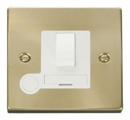 Scolmore Click Deco VPSB051WH 13A Fused Switched Connection Unit With Flex Outlet - White