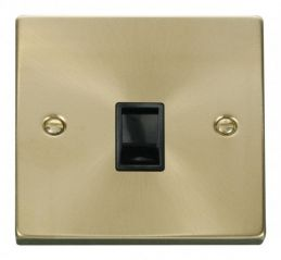 Scolmore Click Deco VPSB115BK Single RJ11 Socket (Ireland/USA) - Black