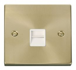 Scolmore Click Deco VPSB120WH Single Telephone Socket Outlet Master - White