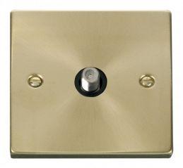 Scolmore Click Deco VPSB156BK 1 Gang Satellite Socket Outlet - Black