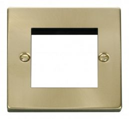 Scolmore Click Deco VPSB311 Single Plate (Twin Media Module Aperture)
