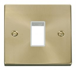Scolmore Click Deco VPSB401WH 1 Gang Plate Single Aperture - White