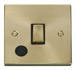 Scolmore Click Deco VPSB522BK 20A 1 Gang DP Ingot Switch With Flex Outlet - Black