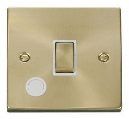 Scolmore Click Deco VPSB522WH 20A 1 Gang DP Ingot Switch With Flex Outlet - White