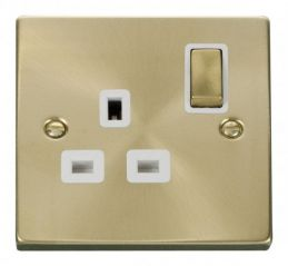 Scolmore Click Deco VPSB535WH 1 Gang 13A DP Ingot Switched Socket Outlet - White