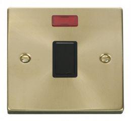 Scolmore Click Deco VPSB623BK 20A 1 Gang DP Switch + Neon - Black