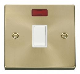 Scolmore Click Deco VPSB623WH 20A 1 Gang DP Switch + Neon - White