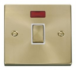 Scolmore Click Deco VPSB723WH 20A 1 Gang DP Ingot Switch + Neon - White