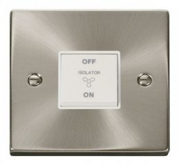 Scolmore Click Deco VPSC020WH 10A 1 Gang 3 Pole Fan Isolation Switch - White