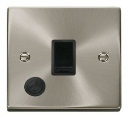 Scolmore Click Deco VPSC022BK 20A 1 Gang DP Switch With Flex Outlet - Black