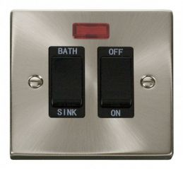 Scolmore Click Deco VPSC024BK 20A DP Sink/Bath Switch - Black