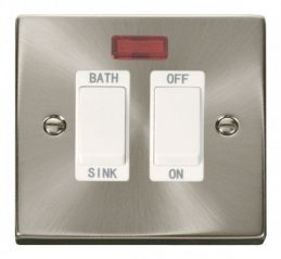 Scolmore Click Deco VPSC024WH 20A DP Sink/Bath Switch - White