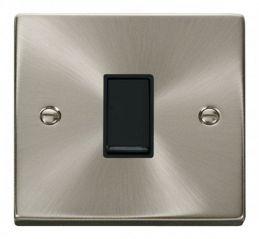 Scolmore Click Deco VPSC025BK 1 Gang Intermediate 10AX Switch - Black