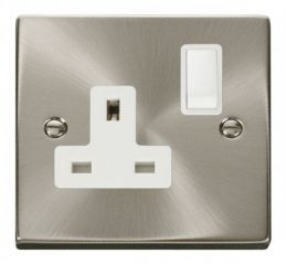Scolmore Click Deco VPSC035WH 1 Gang 13A DP Switched Socket Outlet - White