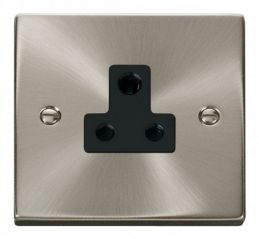 Scolmore Click Deco VPSC038BK 5A Round Pin Socket Outlet - Black