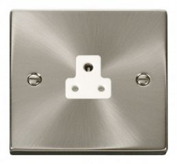 Scolmore Click Deco VPSC039WH 2A Round Pin Socket Outlet - White