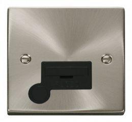 Scolmore Click Deco VPSC050BK 13A Fused Connection Unit With Flex Outlet - Black