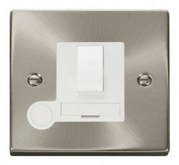 Scolmore Click Deco VPSC051WH 13A Fused Switched Connection Unit With Flex Outlet - White