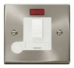 Scolmore Click Deco VPSC052WH 13A Fused Switched Connection Unit With Flex Outlet & Neon - White