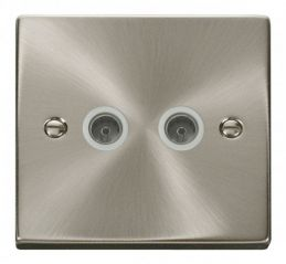 Scolmore Click Deco VPSC066WH Twin Coaxial Socket Outlet - White