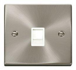 Scolmore Click Deco VPSC115WH Single RJ11 Socket (Ireland/USA) - White