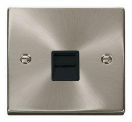 Scolmore Click Deco VPSC120BK Single Telephone Socket Outlet Master - Black