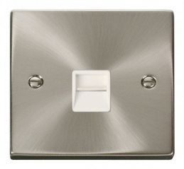 Scolmore Click Deco VPSC125WH Single Telephone Socket Outlet Secondary - White