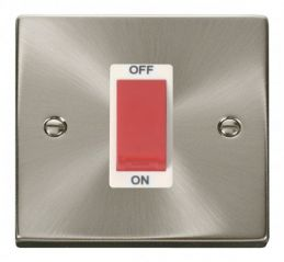 Scolmore Click Deco VPSC200WH 1 Gang 45A DP Switch - White