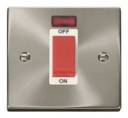Scolmore Click Deco VPSC201WH 1 Gang 45A DP Switch With Neon - White