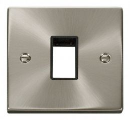 Scolmore Click Deco VPSC401BK 1 Gang Plate Single Aperture - Black