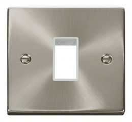 Scolmore Click Deco VPSC401WH 1 Gang Plate Single Aperture - White