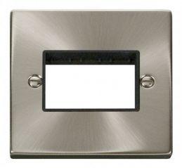 Scolmore Click Deco VPSC403BK 1 Gang Plate Triple Aperture - Black