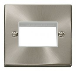 Scolmore Click Deco VPSC403WH 1 Gang Plate Triple Aperture - White