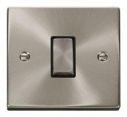 Scolmore Click Deco VPSC411BK 1 Gang 2 Way Ingot 10AX Switch - Black