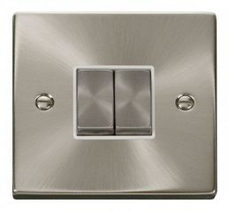 Scolmore Click Deco VPSC412WH 2 Gang 2 Way Ingot 10AX Switch - White