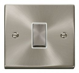 Scolmore Click Deco VPSC425WH 1 Gang Intermediate Ingot 10AX Switch - White