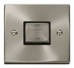 Scolmore Click Deco VPSC520BK 10A 1 Gang Ingot 3 Pole Fan Isolation Switch - Black