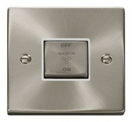Scolmore Click Deco VPSC520WH 10A 1 Gang Ingot 3 Pole Fan Isolation Switch - White