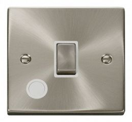 Scolmore Click Deco VPSC522WH 20A 1 Gang DP Ingot Switch With Flex Outlet - White