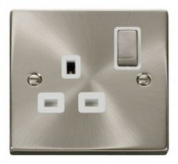 Scolmore Click Deco VPSC535WH 1 Gang 13A DP Ingot Switched Socket Outlet - White