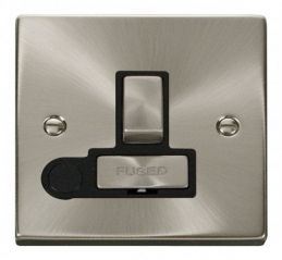Scolmore Click Deco VPSC551BK 13A Fused Ingot Switched Connection Unit With Flex Outlet - Black