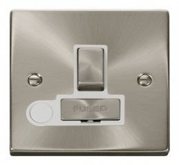 Scolmore Click Deco VPSC551WH 13A Fused Ingot Switched Connection Unit With Flex Outlet - White