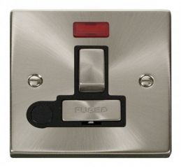 Scolmore Click Deco VPSC552BK 13A Fused Ingot Switched Connection Unit With Flex Outlet & Neon - Black