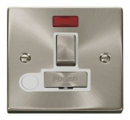 Scolmore Click Deco VPSC552WH 13A Fused Ingot Switched Connection Unit With Flex Outlet & Neon - White