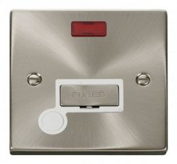 Scolmore Click Deco VPSC553WH 13A Fused Ingot Connection Unit With Flex Outlet & Neon - White