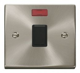 Scolmore Click Deco VPSC623BK 20A 1 Gang DP Switch + Neon - Black